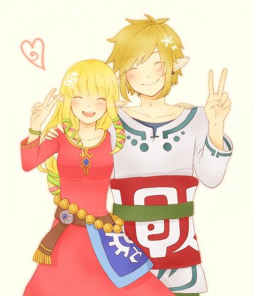 Tags: Anime, Pixiv Id 2586267, Skyward Sword, Zelda no Densetsu, Link (Skyward Sword), Princess Zelda, Zelda (Skyward Sword), Link, Fanart, Fanart From Pixiv, Pixiv
