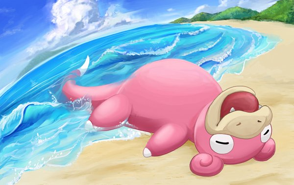 Tags: Anime, Pixiv Id 5761359, Pokémon, Slowpoke, Facebook Cover, Fanart, Fanart From Pixiv, Pixiv