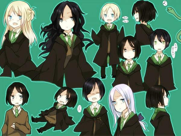 Tags: Anime, Pixiv Id 1925620, Harry Potter, Regulus Black, Nagini, Lucius Malfoy, Severus Snape, Narcissa Malfoy, Draco Malfoy, Pansy Parkinson, Bellatrix Lestrange, Pageboy Haircut, Death Eaters