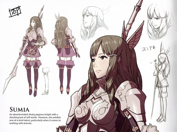 Tags: Anime, Kozaki Yuusuke, Fire Emblem: Awakening Artbook, Fire Emblem: Kakusei, Smia, Official Art, Scan, Sumia