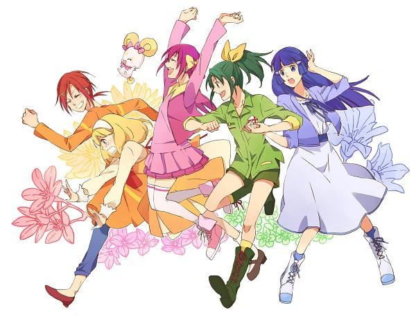 Tags: Anime, Pixiv Id 2075811, Smile Precure!, Hino Akane, Hoshizora Miyuki, Kise Yayoi, Aoki Reika, Midorikawa Nao, Fanart, Pixiv