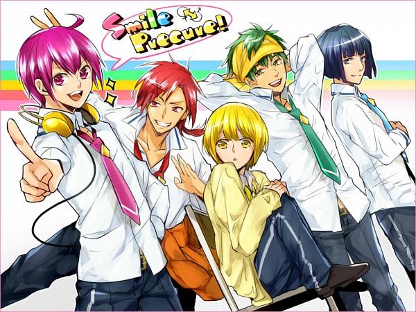 Tags: Anime, Ichinose777, Smile Precure!, Aoki Reika, Midorikawa Nao, Hino Akane, Hoshizora Miyuki, Kise Yayoi, Pixiv, Fanart