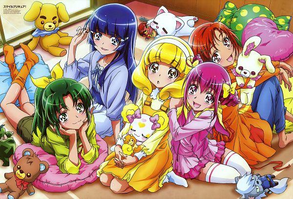 Tags: Anime, Kawamura Toshie, Smile Precure!, Hino Akane, Wolfrun, Hoshizora Miyuki, Pop (Smile Precure), Kise Yayoi, Candy (Smile Precure), Akaooni, Aoki Reika, Majorina, Midorikawa Nao