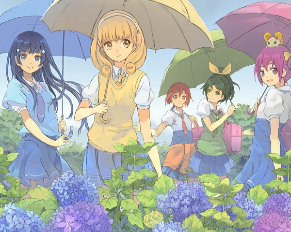 Tags: Anime, Toromi Chuuka, Smile Precure!, Kise Yayoi, Candy (Smile Precure), Aoki Reika, Midorikawa Nao, Hino Akane, Hoshizora Miyuki, Pixiv, Fanart, Fanart From Pixiv