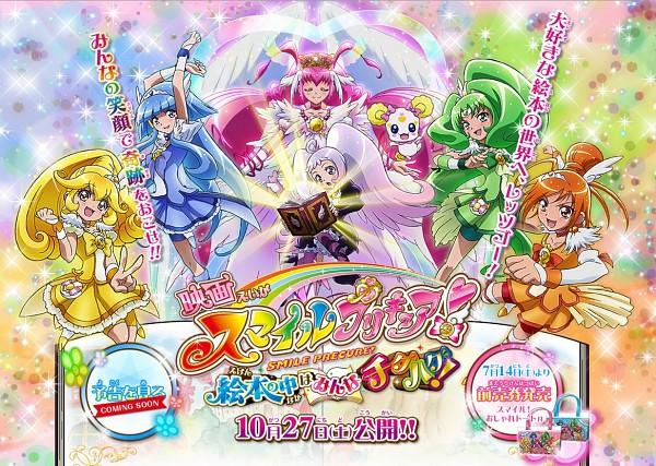 Tags: Anime, Kawamura Toshie, Smile Precure!, Midorikawa Nao, Cure Peace, Ultra Cure Happy, Hino Akane, Cure March, Nico (Smile Precure!), Hoshizora Miyuki, Candy (Smile Precure), Kise Yayoi, Cure Beauty
