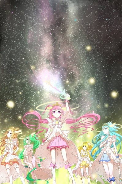 Tags: Anime, Minatsuki Randoser, Smile Precure!, Aoki Reika, Cure Sunny, Midorikawa Nao, Cure Peace, Hino Akane, Cure March, Hoshizora Miyuki, Cure Happy, Kise Yayoi, Cure Beauty