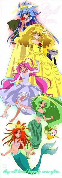 Tags: Anime, Pixiv Id 3757048, Smile Precure!, Kise Yayoi, Cure Beauty, Cure Happy, Aoki Reika, Cure Sunny, Midorikawa Nao, Cure Peace, Majorina, Hino Akane, Cure March