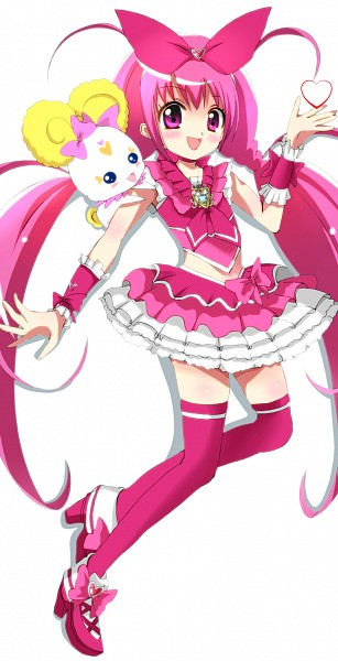 Tags: Anime, Haru (Nature Life), Smile Precure!, Candy (Smile Precure), Cure Happy, Hoshizora Miyuki, Cure Melody (Cosplay), Hummy (Cosplay), Pixiv, Fanart, Fanart From Pixiv