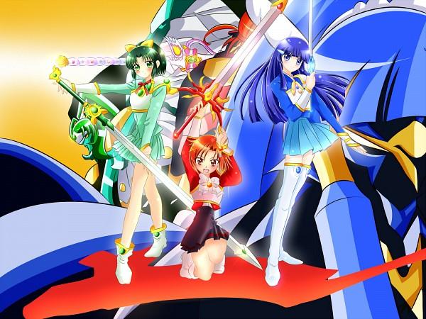 Tags: Anime, Pixiv Id 3241196, Smile Precure!, Magic Knight Rayearth, Cure Sunny, Midorikawa Nao, Cure March, Hino Akane, Cure Beauty, Aoki Reika, Hououji Fuu (Cosplay), Shidou Hikaru (Cosplay), Ryuuzaki Umi (Cosplay)