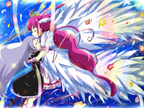 Tags: Anime, Rika (Kakera), Smile Precure!, Nico (Smile Precure!), Hoshizora Miyuki, Ultra Cure Happy, Pixiv, Fanart, Fanart From Pixiv