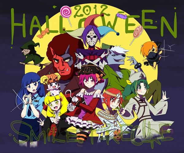 Tags: Anime, Pixiv Id 206112, Smile Precure!, Candy (Smile Precure), Akaooni, Aoki Reika, Majorina, Midorikawa Nao, Joker (Smile Precure), Hino Akane, Wolfrun, Hoshizora Miyuki, Pop (Smile Precure)