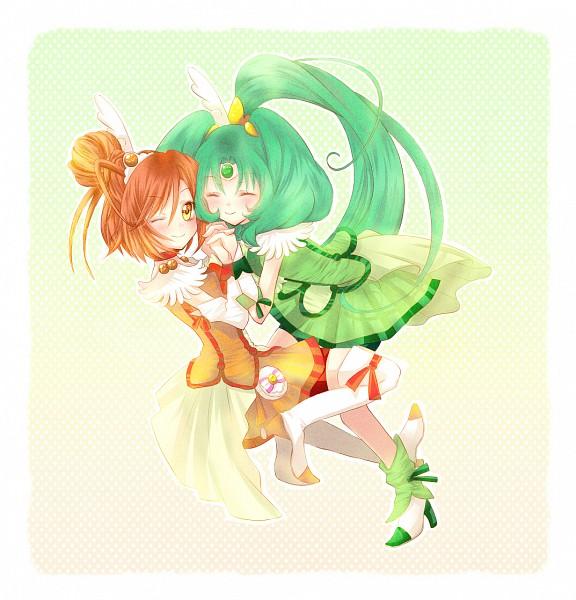 Tags: Anime, Pixiv Id 425635, Smile Precure!, Midorikawa Nao, Hino Akane, Cure Sunny, Cure March, Fanart From Pixiv, Pixiv, Fanart