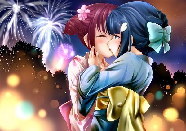 Tags: Anime, Pixiv Id 783301, Smile Precure!, Aoki Reika, Hoshizora Miyuki, Festival, Fanart, Fanart From Pixiv, Pixiv