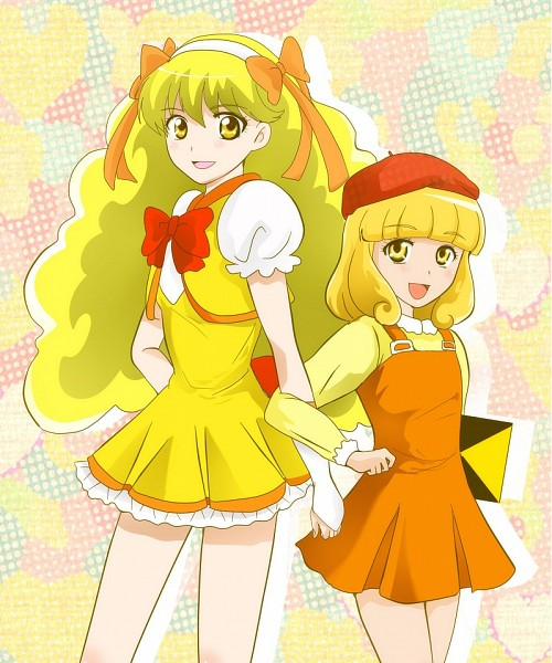 Tags: Anime, Pixiv Id 676413, Smile Precure!, Kise Yayoi, Miracle Peace, Side by Side, Sketchbook, Pixiv, Fanart, Fanart From Pixiv