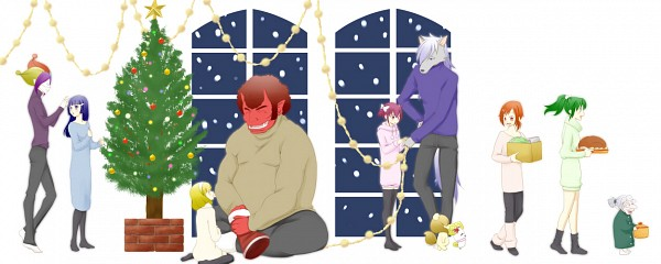 Tags: Anime, Pixiv Id 1071065, Smile Precure!, Majorina, Midorikawa Nao, Joker (Smile Precure), Hino Akane, Wolfrun, Hoshizora Miyuki, Pop (Smile Precure), Kise Yayoi, Candy (Smile Precure), Akaooni