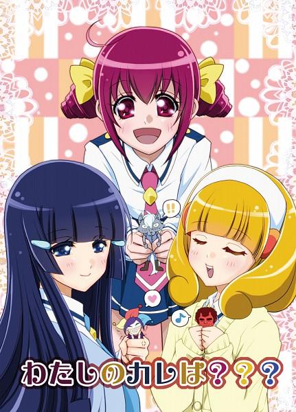 Tags: Anime, Chihanae, Smile Precure!, Aoki Reika, Akaooni, Hoshizora Miyuki, Joker (Smile Precure), Wolfrun, Kise Yayoi, Red Skin, Pixiv, Fanart, Fanart From Pixiv
