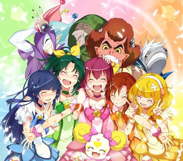 Tags: Anime, Ushiki Yoshitaka, Smile Precure!, Joker (Smile Precure), Hino Akane, Wolfrun, Hoshizora Miyuki, Kise Yayoi, Akaooni, Aoki Reika, Majorina, Candy (Smile Precure), Midorikawa Nao