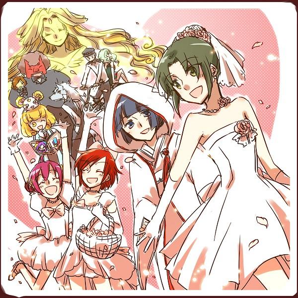 Tags: Anime, Sekihara Umina, Smile Precure!, Kise Yayoi, Candy (Smile Precure), Majorina, Aoki Reika, Joker (Smile Precure), Midorikawa Nao, Royal Queen, Wolfrun, Hino Akane, Pop (Smile Precure)