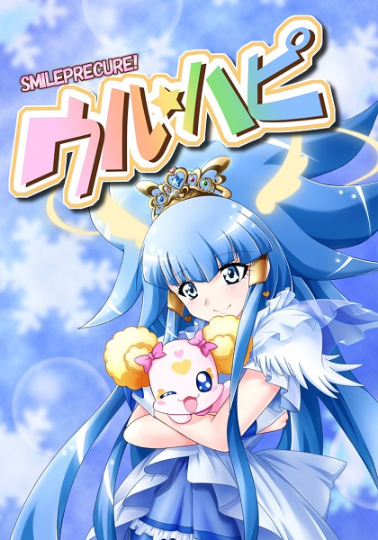Tags: Anime, Pixiv Id 6136071, Smile Precure!, Aoki Reika, Cure Beauty, Candy (Smile Precure), Hugging Animal, Fanart From Pixiv, Pixiv, Fanart
