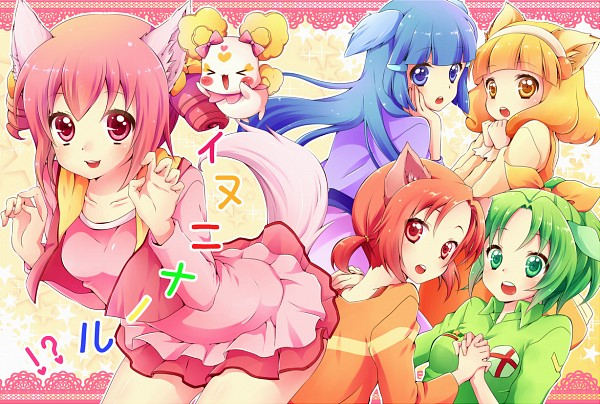 Tags: Anime, Sorane Rin, Smile Precure!, Hino Akane, Hoshizora Miyuki, Kise Yayoi, Candy (Smile Precure), Aoki Reika, Midorikawa Nao, Fanart From Pixiv, Pixiv, Fanart