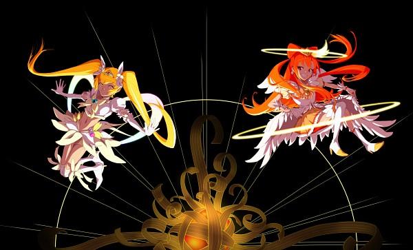 Tags: Anime, Pixiv Id 3697890, Smile Precure!, Heartcatch Precure!, Precure All Stars, Cure Sunshine, Hino Akane, Super Cure Sunshine, Cure Sunny, Myoudouin Itsuki, Name Connection, Fanart, Fanart From Pixiv