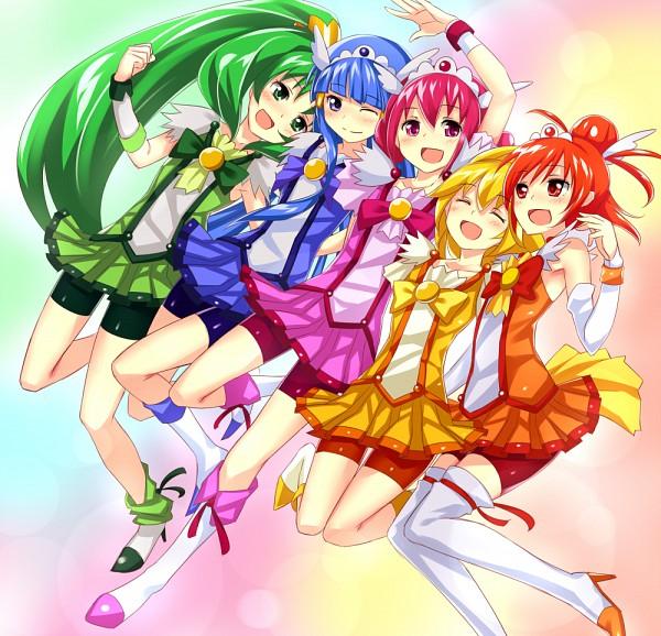 Tags: Anime, Keikotsu, Smile Precure!, Cure Peace, Hino Akane, Cure March, Hoshizora Miyuki, Cure Happy, Kise Yayoi, Cure Beauty, Aoki Reika, Cure Sunny, Midorikawa Nao
