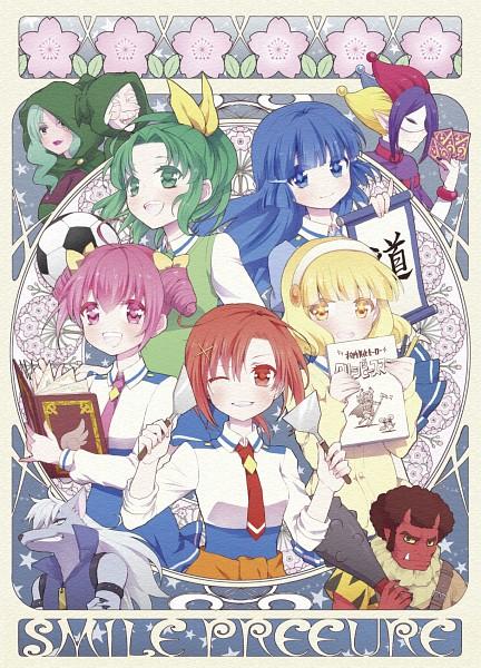 Tags: Anime, Pixiv Id 615220, Smile Precure!, Hoshizora Miyuki, Kise Yayoi, Akaooni, Aoki Reika, Majorina, Midorikawa Nao, Joker (Smile Precure), Hino Akane, Wolfrun, Red Skin