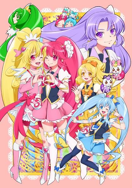 Tags: Anime, 0417nao, Heartcatch Precure!, HappinessCharge Precure!, Dokidoki! Precure, Smile Precure!, Cure March, Aino Megumi, Cure Heart, Ribbon (Pretty Cure), Cure Blossom, Coffret, Cure Fortune