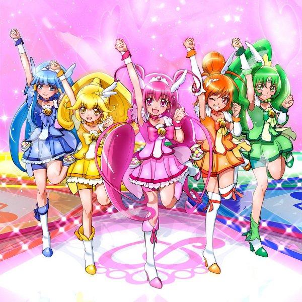 Tags: Anime, Miyamoto Hiroshi, Smile Precure!, Cure Sunny, Midorikawa Nao, Cure Peace, Hino Akane, Cure March, Hoshizora Miyuki, Cure Happy, Kise Yayoi, Cure Beauty, Aoki Reika
