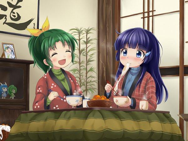 Tags: Anime, Tamago Kago, Smile Precure!, Aoki Reika, Midorikawa Nao, Steam, Pixiv, Fanart, Fanart From Pixiv