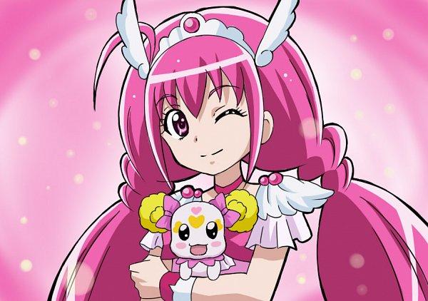 Tags: Anime, Pixiv Id 561734, Smile Precure!, Hoshizora Miyuki, Candy (Smile Precure), Cure Happy, Fanart From Pixiv, Pixiv, Fanart