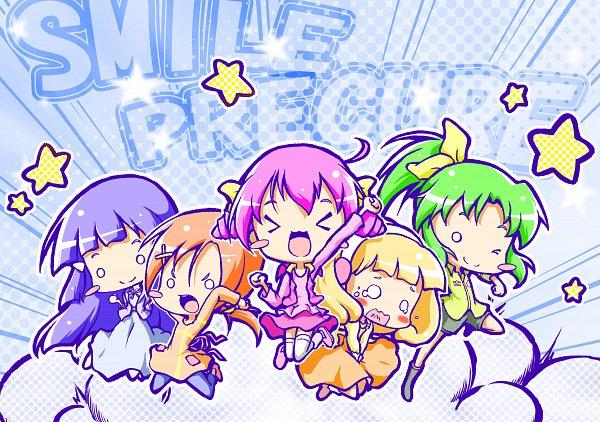 Tags: Anime, Ego Yan, Smile Precure!, Kise Yayoi, Aoki Reika, Midorikawa Nao, Hino Akane, Hoshizora Miyuki, Fanart, Fanart From Pixiv, Pixiv