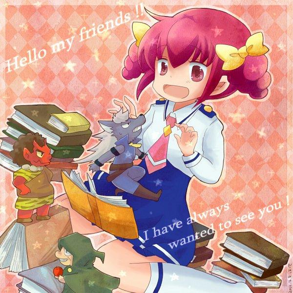 Tags: Anime, Pixiv Id 2474110, Smile Precure!, Majorina, Wolfrun, Hoshizora Miyuki, Akaooni, Red Skin, Fanart From Pixiv, Pixiv, Fanart