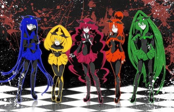 Tags: Anime, Yuki (Nanao Yuki), Smile Precure!, Bad End Peace, Bad End Beauty, Bad End Happy, Bad End March, Bad End Sunny, Yellow Skirt, Orange Skirt, Pixiv, Fanart, Fanart From Pixiv