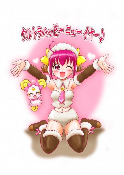 Tags: Anime, Hoshikawa Tsukimi, Smile Precure!, Hoshizora Miyuki, Candy (Smile Precure), Sheep Costume, Pixiv, Fanart, Fanart From Pixiv, Happy 2015, Chinese Zodiac