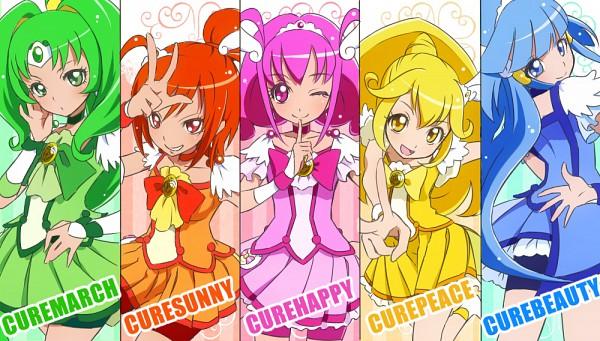 Tags: Anime, Pixiv Id 2089700, Smile Precure!, Aoki Reika, Cure Sunny, Midorikawa Nao, Cure Peace, Hino Akane, Cure March, Hoshizora Miyuki, Cure Happy, Kise Yayoi, Cure Beauty