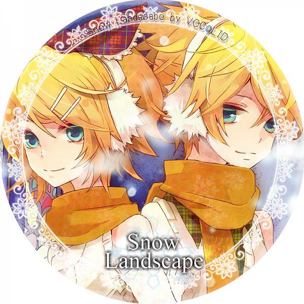 Tags: Anime, Musou Yuchi, Snow Landscape, VOCALOID, Kagamine Len, Kagamine Rin, Pixiv, Comic Market 81, Comic Market, Fanart, Kagamine Mirrors