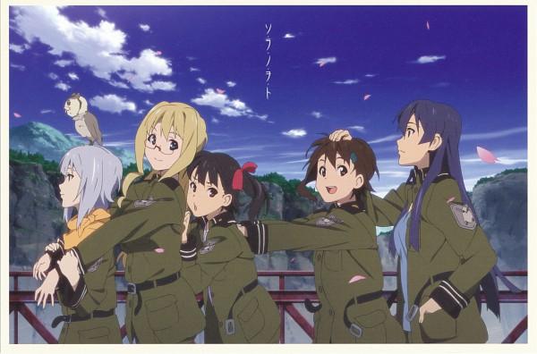 Tags: Anime, So Ra No Wo To, Sorami Kanata, Kazumiya Rio, Suminoya Kureha, Shuko, Filicia Heideman, Kannagi Noël, Scan, Official Art, Sound Of The Sky