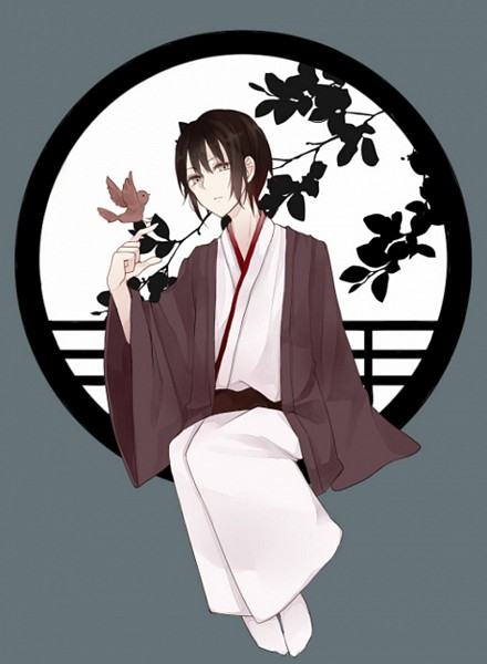 Tags: Anime, Pixiv Id 4053223, Fruits Basket, Sohma Akito, Bird on Hand