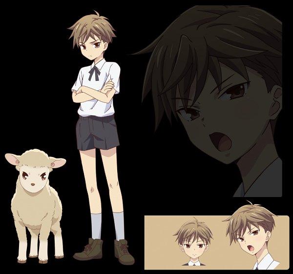 Tags: Anime, Shindo Masaru, TMS Entertainment, Fruits Basket, Sohma Hiro, Character Sheet, Official Art, Edited