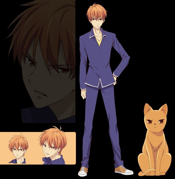 Tags: Anime, Shindo Masaru, TMS Entertainment, Fruits Basket, Sohma Kyo (cat), Sohma Kyo, Character Sheet, Official Art, Edited