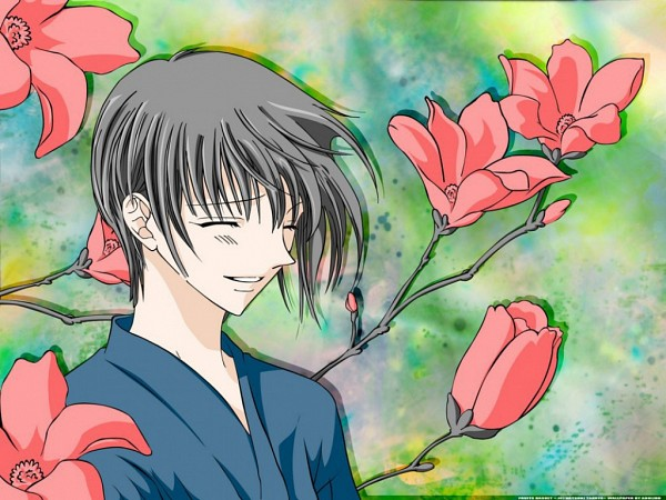Tags: Anime, Takaya Natsuki, Fruits Basket, Sohma Yuki, Vector, Wallpaper