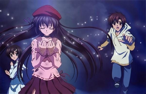 Tags: Anime, Koga Makoto, NOMAD, Sola, Shihou Matsuri, Morimiya Yorito, Ishizuki Mana, Official Art