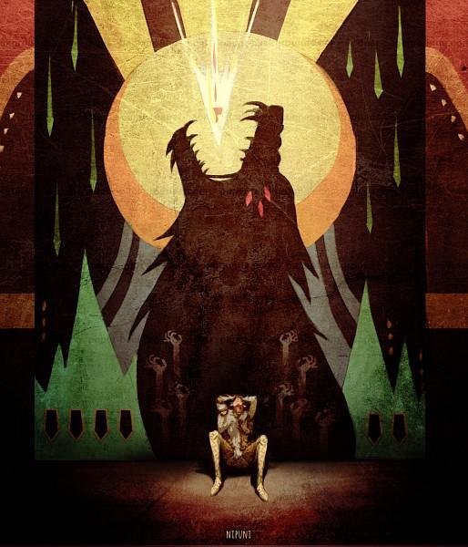 Tags: Anime, Nipuni, Dragon Age: Inquisition, Solas, Beast, Fanart, Tumblr