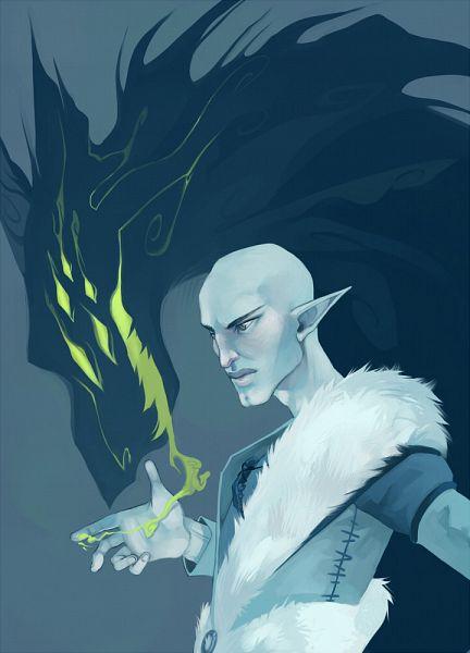 Tags: Anime, Kataraqui, Dragon Age: Inquisition, Solas, Beast, Fanart, Tumblr