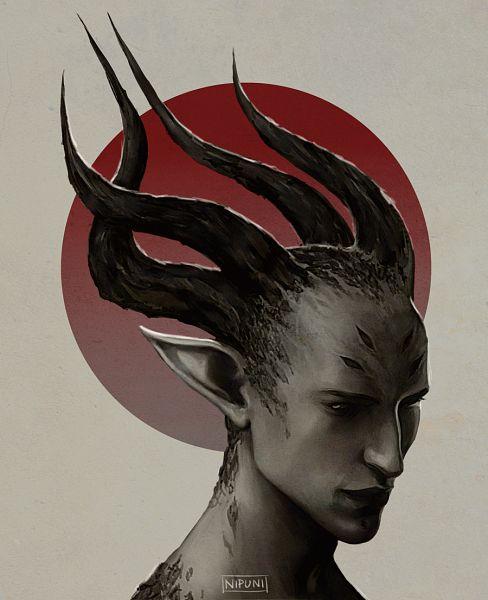Tags: Anime, Nipuni, Dragon Age: Inquisition, Solas, Tumblr, Fanart