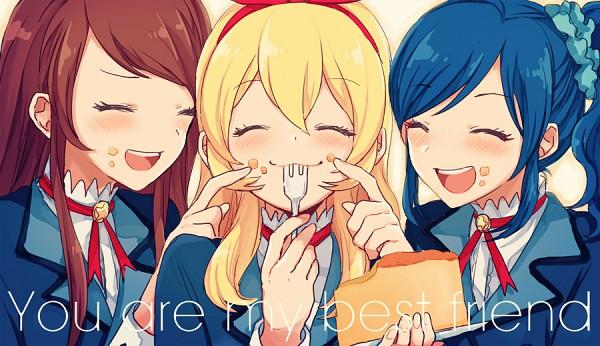 Tags: Anime, Yui (Rogusouku), Aikatsu!, Hoshimiya Ichigo, Shibuki Ran, Kiriya Aoi, Finger On Cheek, Pixiv, Fanart, Fanart From Pixiv, Soleil (Aikatsu!)
