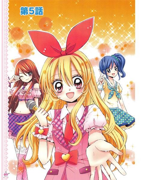 Tags: Anime, Ooka Saori, Aikatsu!, Hoshimiya Ichigo, Shibuki Ran, Kiriya Aoi, Scan, Manga Color, Official Art, Soleil (Aikatsu!)