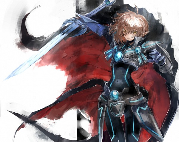 Tags: Anime, Asuka Moto, Cardfight!! Vanguard, Solitary Knight Gancelot, Pixiv, Fanart, Vanguard Unit, Vanguard Race: Elf, Royal Paladin