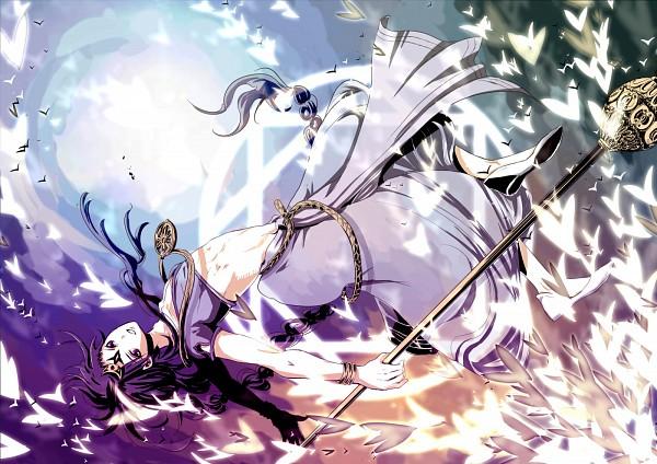 Tags: Anime, Riri (Hue), MAGI: The Labyrinth of Magic, Solomon Jehoahaz Abraham, Divine Staff, Rukh, Fanart From Pixiv, Pixiv, Fanart